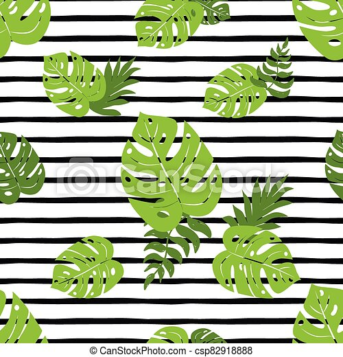 Print Summer Exotic Jungle Plant Tropical Palm Leaves Fresh Summer Beach Seamless Pattern Black Lines Print Summer Exotic Canstock Find over 100+ of the best free tropical leaves images. can stock photo