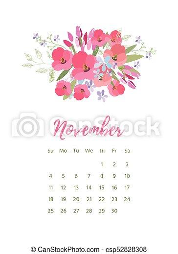 Printable 2018 calendar with pretty colorful flowers vector printable 2018 calendar with pretty colorful flowers csp52828308 mightylinksfo
