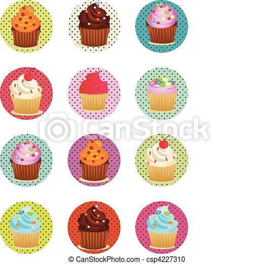 Printable, círculos, cupcakes, hoja. Círculos, cupcakes,... clipart ...