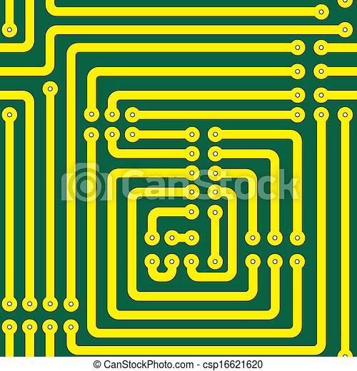 Printed circuit board. Seamless pattern of a printed circuit board.
