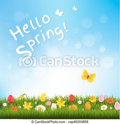 printemps, bonjour - csp46304858