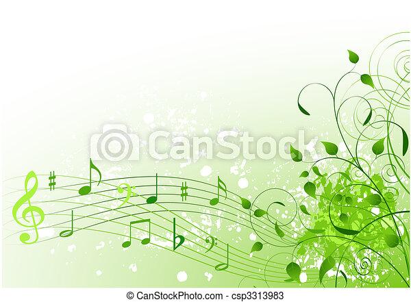 printemps, chanson - csp3313983