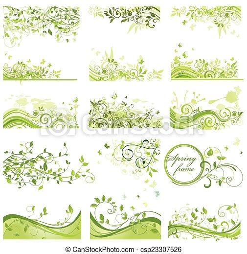 printemps, ensemble, arrière-plans - csp23307526