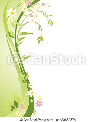 printemps, fond - csp23662574