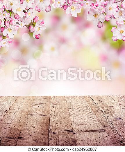 printemps, fond - csp24952887
