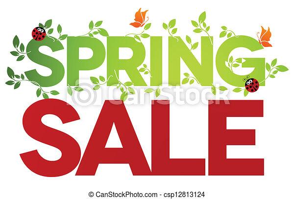 printemps, isolé, vente - csp12813124