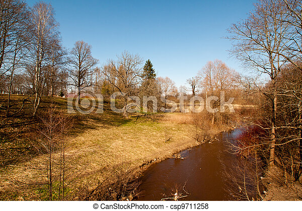 printemps, parc, temps - csp9711258