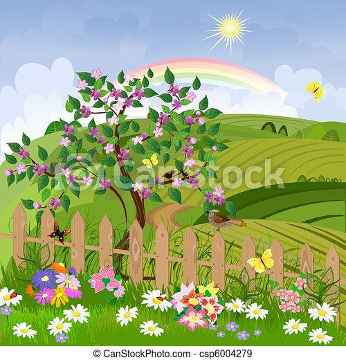 printemps, paysage - csp6004279