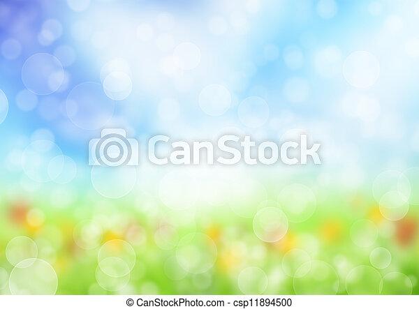 printemps, résumé, fond, barbouillage - csp11894500