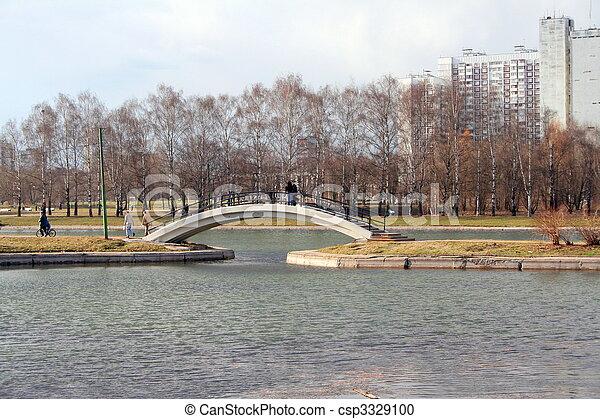 printemps, ville parc - csp3329100