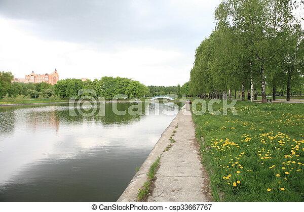 printemps, ville parc - csp33667767