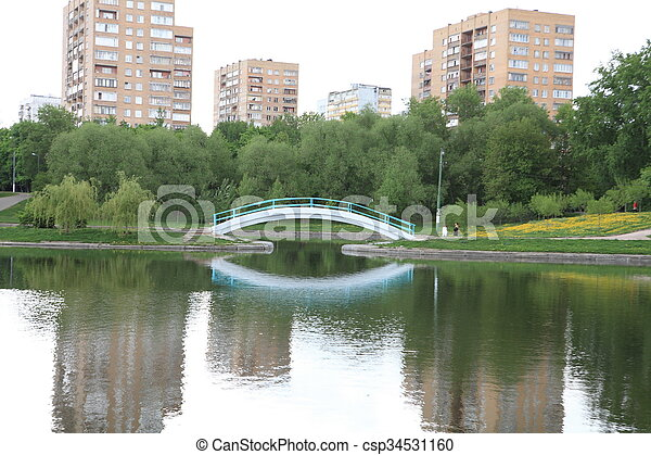 printemps, ville parc - csp34531160