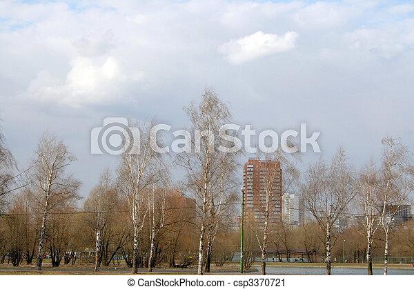 printemps, ville parc - csp3370721