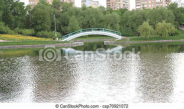 printemps, ville parc - csp70921072