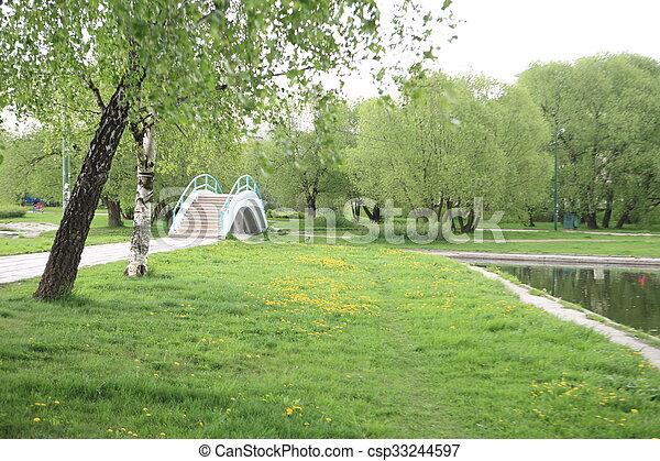 printemps, ville parc - csp33244597