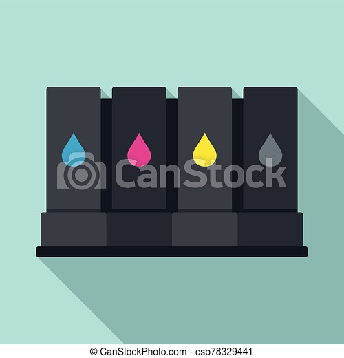 Printer cartridge icon, flat style - csp78329441