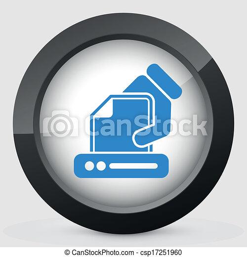 Printer icon - csp17251960