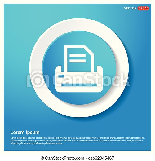 Printer Icon - csp62045467