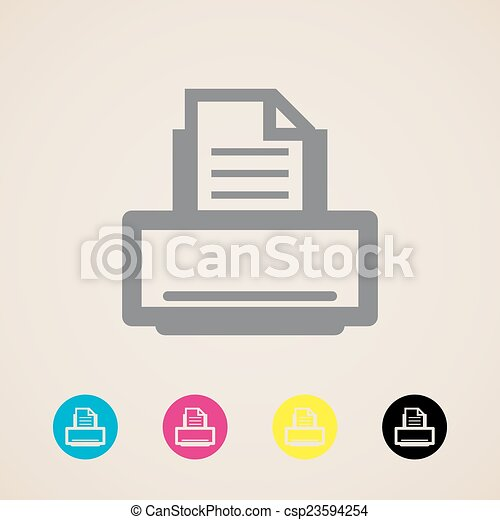 printer icon - csp23594254