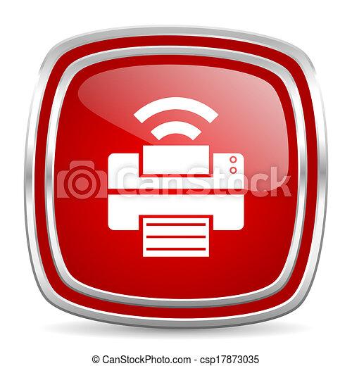 printer icon - csp17873035