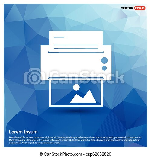 Printer icon - csp62052820