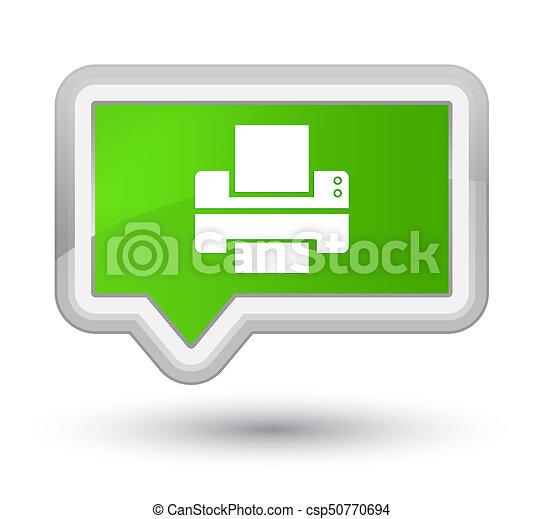 Printer icon prime soft green banner button - csp50770694