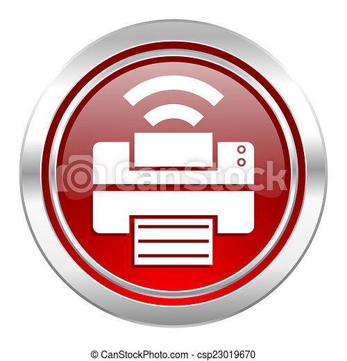 printer icon - csp23019670