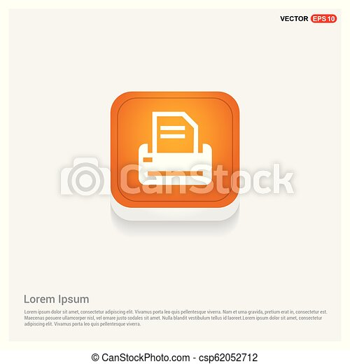 Printer Icon - csp62052712
