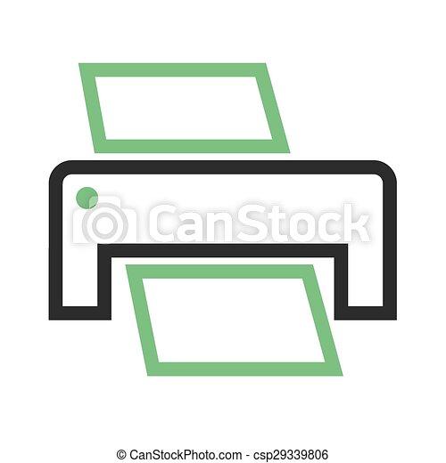 Printer ii. Printer, printing machine, digital printer icon vector ...