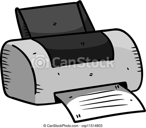 printer in doodle style vector clipart search illustration rh canstockphoto com printer clip art images print clip art on envelopes