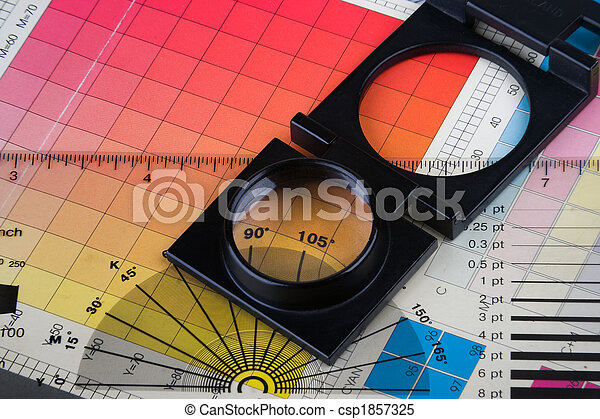 Printing Color Management Set With Magnifyer And Swatches