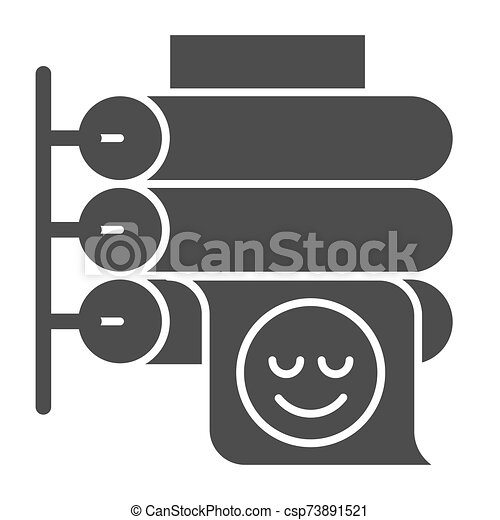printing press solid icon large format printer vector illustration isolated on white placard printing glyph style design can stock photo