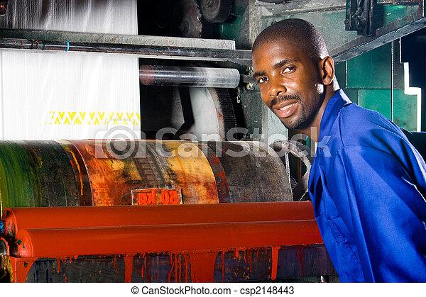 printing press worker - csp2148443
