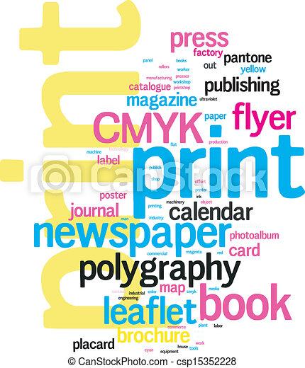 Printing Word Cloud - csp15352228