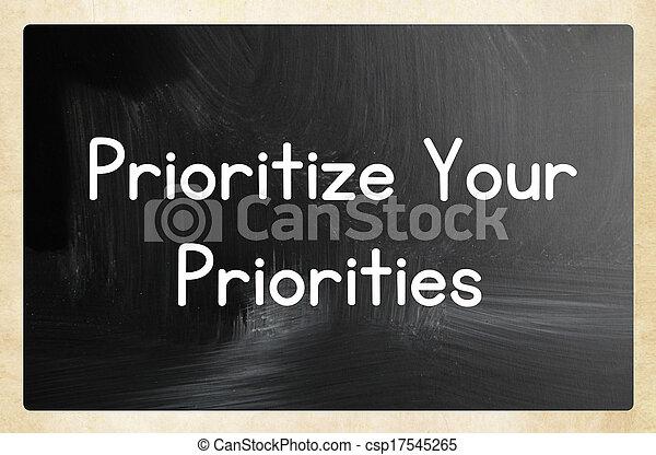 Prioriza tus prioridades - csp17545265