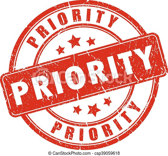 Priority rubber stamp - csp39059618