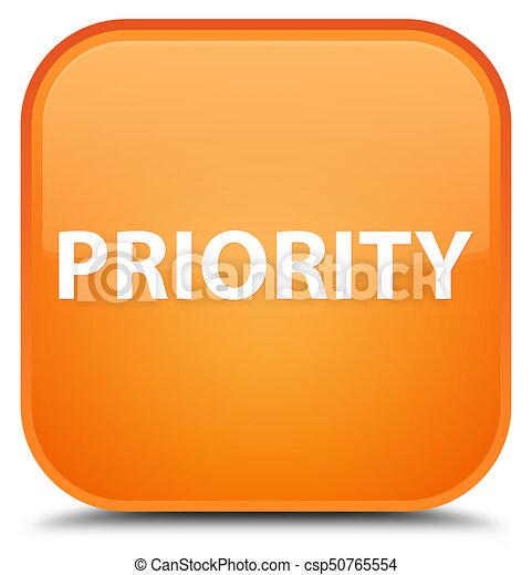 Priority special orange square button - csp50765554