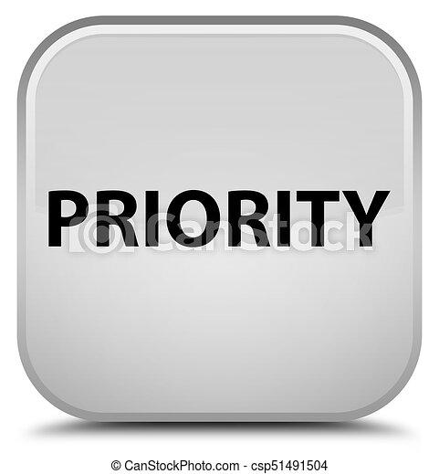 Priority special white square button - csp51491504