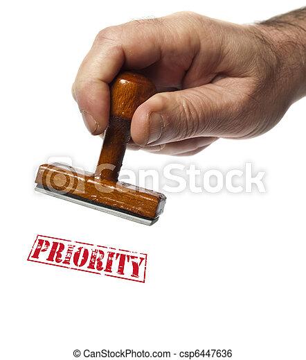 Priority stamp - csp6447636