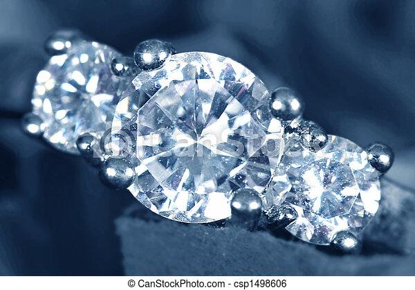 pris, anneau, engagement, closeup - csp1498606