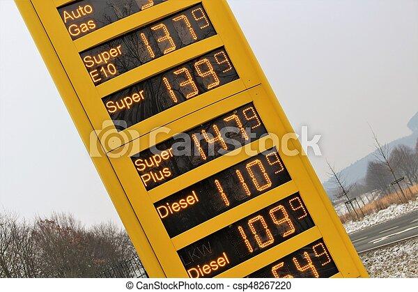 pris, avbild, gas, torn - csp48267220