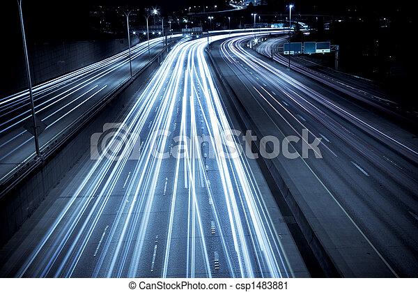 prisa, tráfico, hora - csp1483881