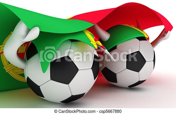 Prise portugal drapeau deux balles football balle illustration de stock rechercher - Dessin drapeau portugal ...