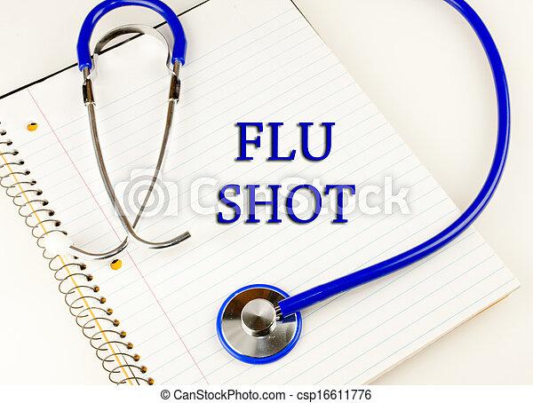 prise vue grippe - csp16611776