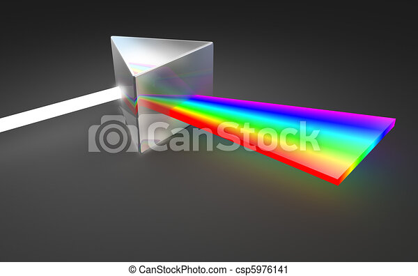 Prism light spectrum dispersion - csp5976141
