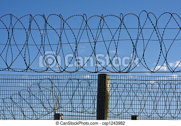 Prison Barbed Wire - csp1243982