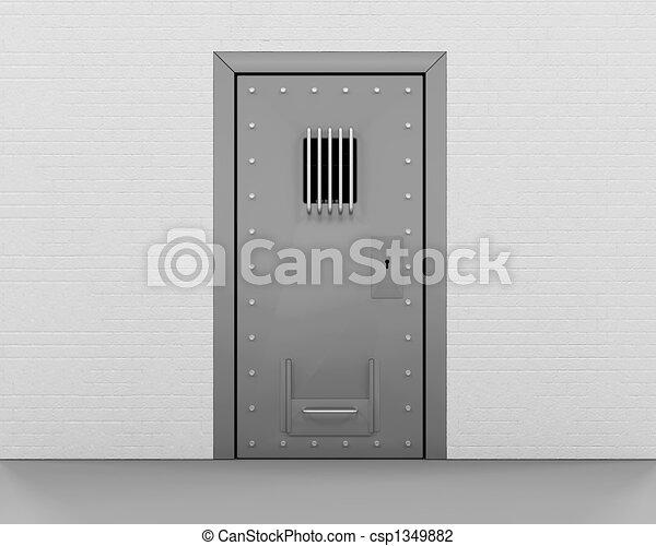 Prison Door Stock Illustration & 3d render of a prison door clip art - Search Illustration ...