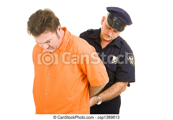 prisonnier, gendarme - csp1389813