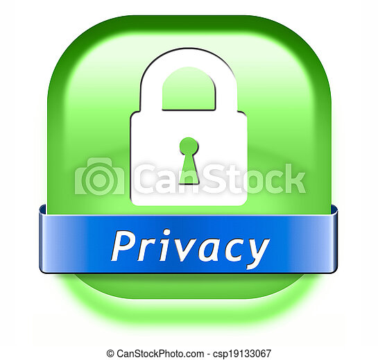 Privacy button. Privacy private area protection of ...