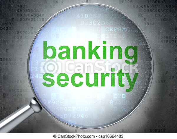Privacy concept: Banking Security with optical glass - csp16664403